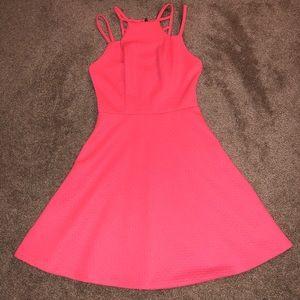 Bright coral dress